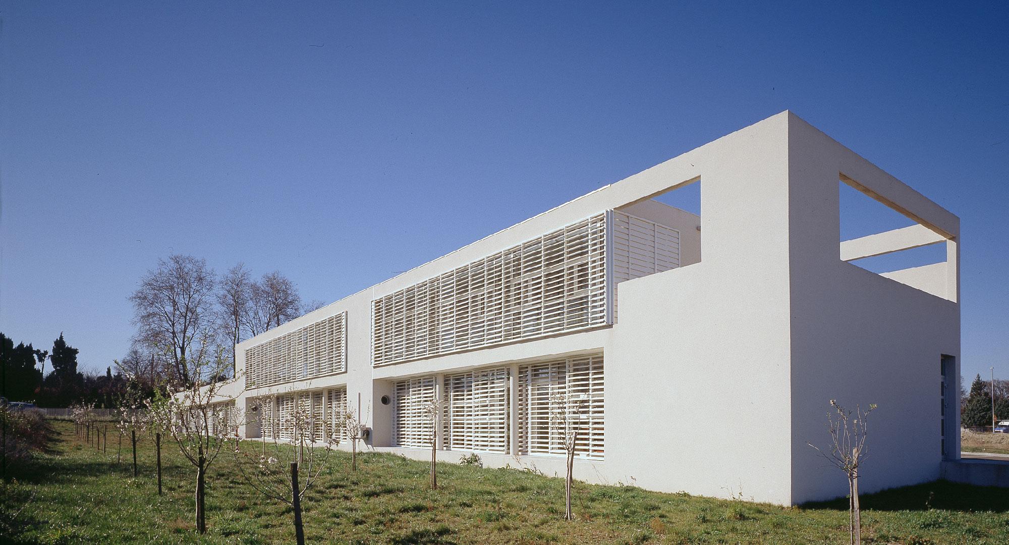façade- Bibliothèque départementale de Saint-Rémy-de-Provence - TAUTEM Architecture