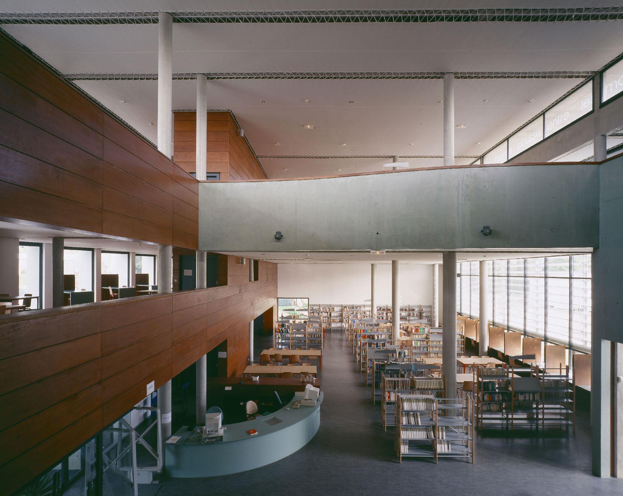 Bibliothèque universitaire Paul Valéry - Montpellier - TAUTEM Architecture - atrium