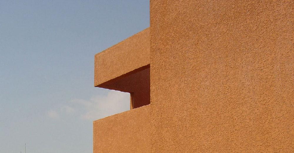 Logements à Cheval Blanc, cadrage sur la façade, Tautem Architecture