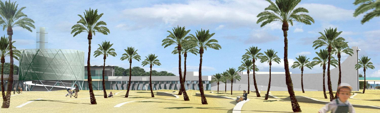 Perspective de jour - Concours pour la réhabilitation du Point Zero à La Grande Motte - TAUTEM Architecture