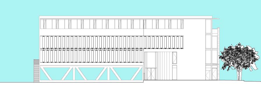 Crédit agricole l'Amandier - Avignon - TAUTEM Architecture - coupe