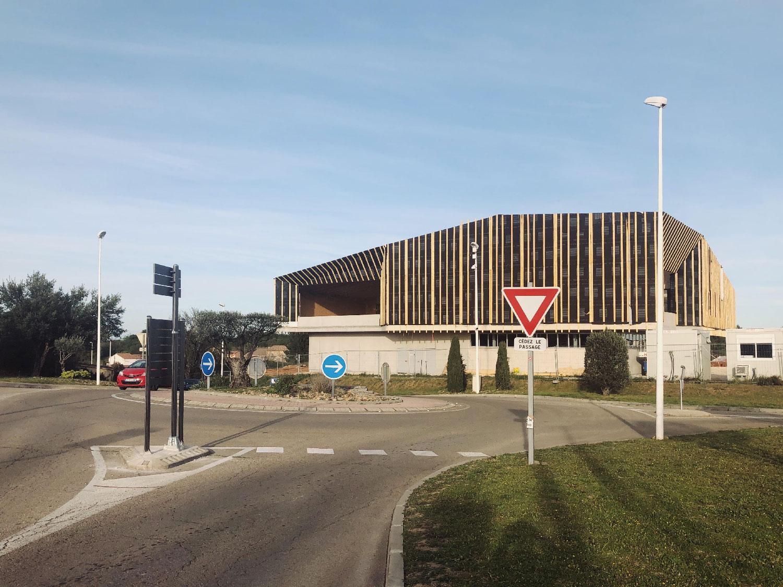 Photo du chantier du centre culturel et associatif de Bellegarde (30) - TAUTEM Architecture