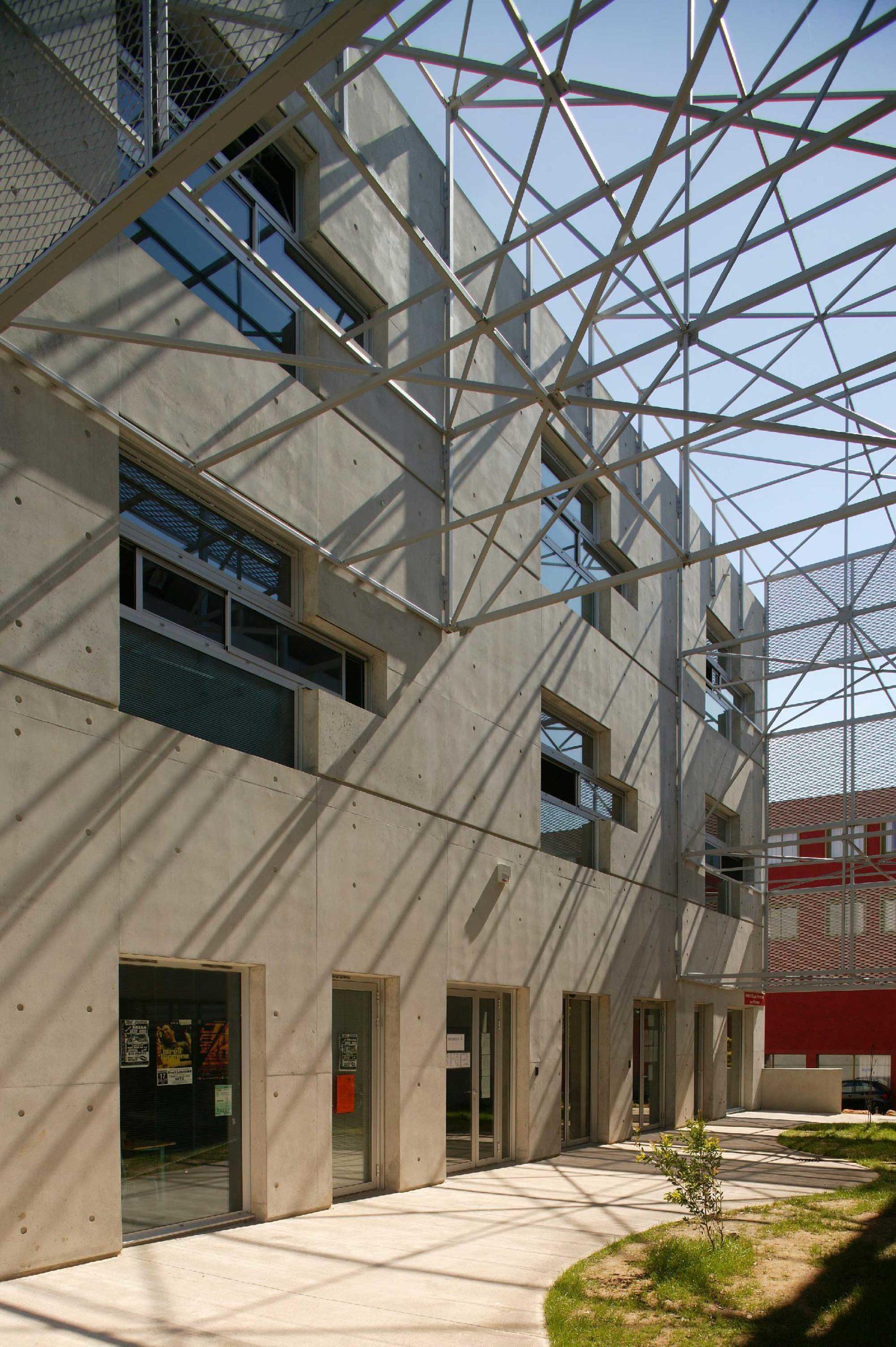 Détail de structure- Institut d'études françaises pour étrangers – Eugène Ionesco - Montpellier - TAUTEM Architecture