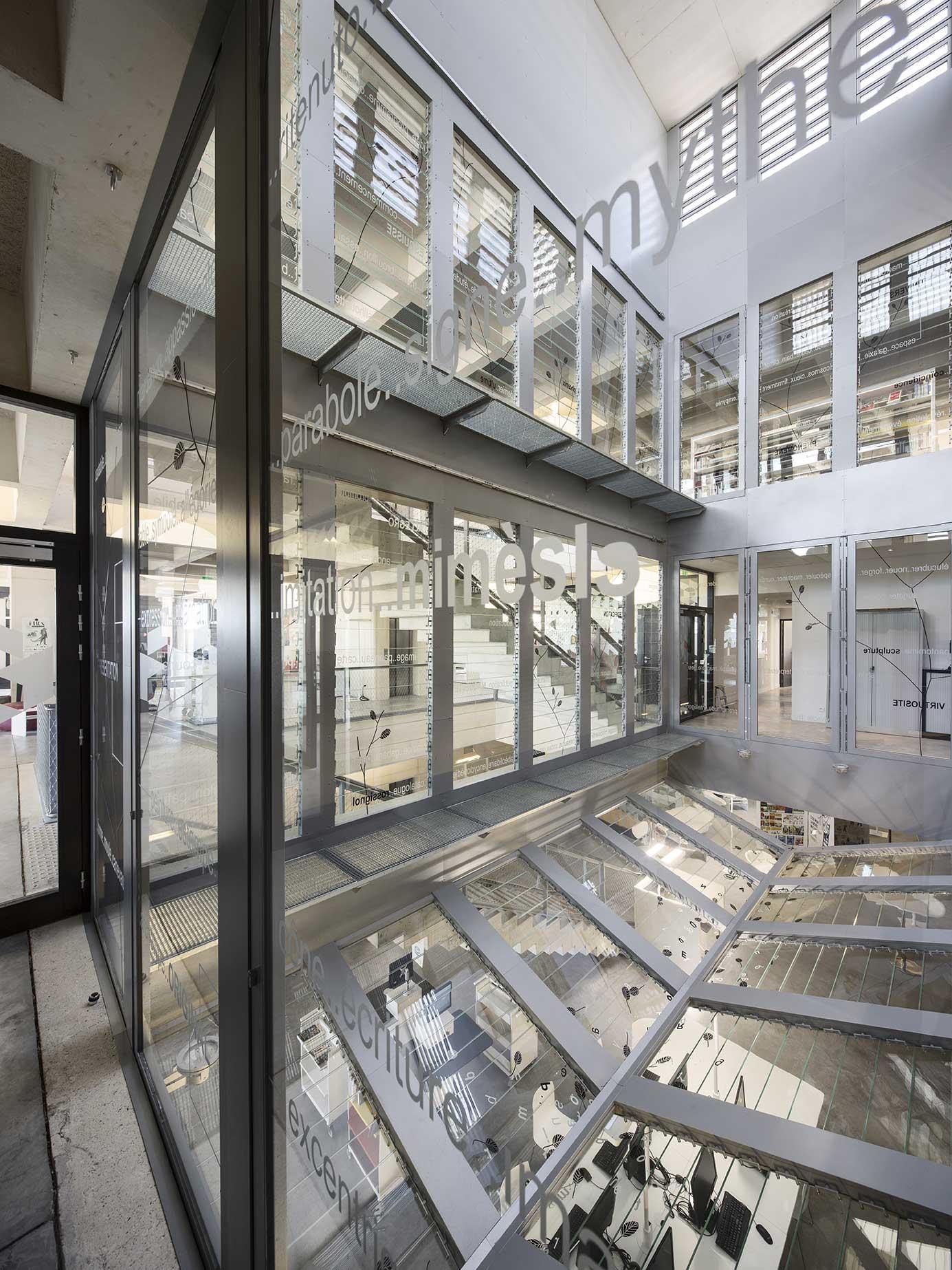 Tautem architecture - mediatheque Montaigne Frontignan - boite à vent